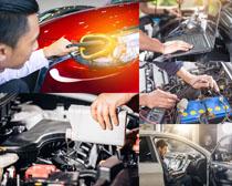 汽车保养检查设备摄影高清图片