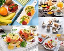 水果面包早餐摄影高清图片
