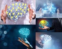 雙手與大腦科技攝影高清圖片