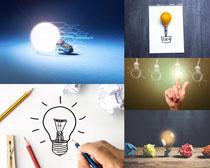 创意与灯泡摄影高清图片