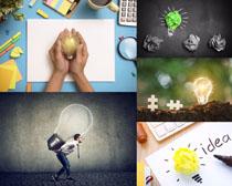 灯泡工作商务摄影高清图片