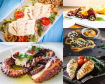 海鲜美食展示摄影高清图片
