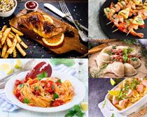 国外铁板烧食物摄影高清图片