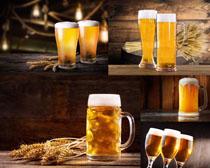 小麦与啤酒摄影高清图片