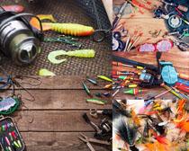 钓鱼装备拍摄高清图片