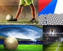 足球比賽運動攝影高清圖片