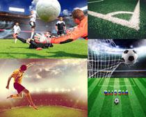 足球運動體育攝影高清圖片