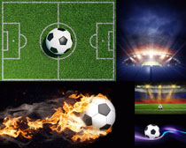 場地與足球攝影高清圖片
