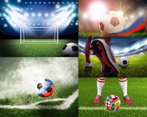 燈光足球草地攝影高清圖片