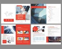 红色房地产画册PSD素材