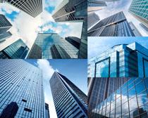 辦公玻璃大廈建筑攝影高清圖片