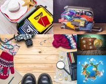 旅游行李衣服摄影高清图片