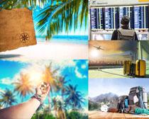 旅游风光景与行李影高清图片