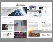 简洁企业画册矢量素材