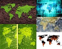 地图图案背景摄影高清图片