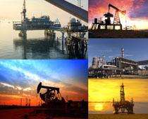 風景油田設備攝影高清圖片