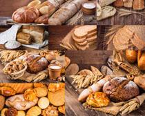 小麦与面包食物摄影高清图片