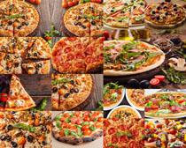 食物披萨展示摄影高清图片