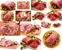 新鲜牛肉展示摄影高清图片