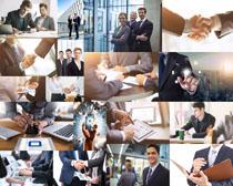 职场商务人士合作摄影高清图片