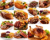 牛肉与鸡肉摄影高清图片