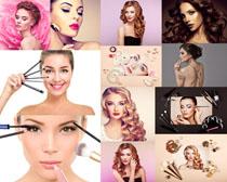 美丽化妆的女人拍摄高清图片