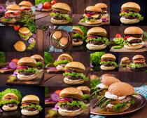 汉堡包食物摄影高清图片