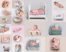 睡觉的写真宝宝摄影高清图片