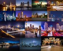 美麗夜景城市風光攝影高清圖片