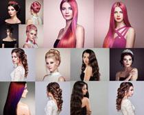 柔丝发型美女拍摄高清图片