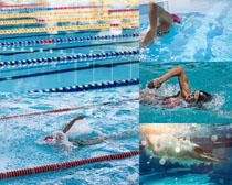 體育健身游泳人物攝影高清圖片