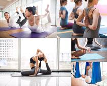 瑜伽欧美女子拍摄高清图片