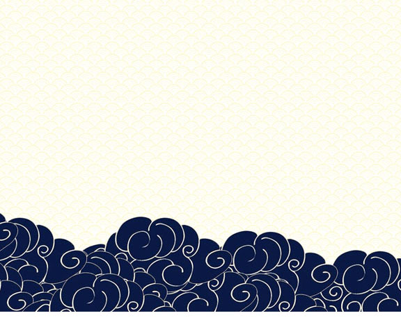 封面绘画云psd素材