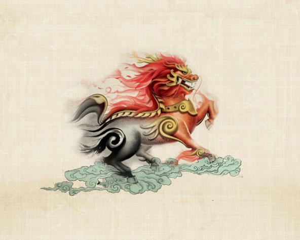 中国风龙马PSD素材