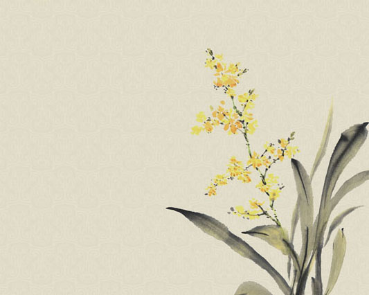 工笔画花朵PSD素材