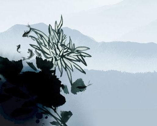 山峰风景PSD素材