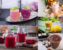 新鲜果汁饮料摄影高清图片