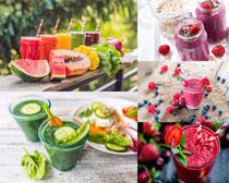 各种水果饮料拍摄高清图片