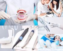 牙科护理人物摄影高清图片