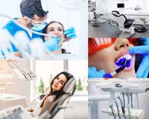 看牙科的病人摄影高清图片