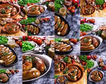 香肠食物摄影高清图片