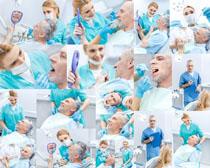 牙科医生与病人摄影高清图片
