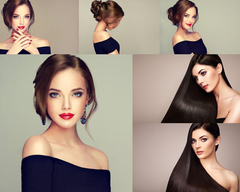 歐美美女發型攝影高清圖片