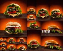 美食汉堡包展示摄影高清图片
