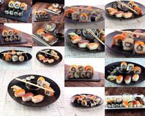 寿司饭团摄影高清图片