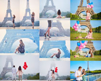 浪漫爱情塔下写真人物摄影时时彩娱乐网站