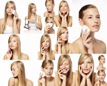 脸部护理肌肤女子摄影高清图片