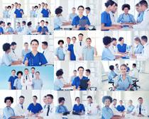医生团队精神摄影高清图片
