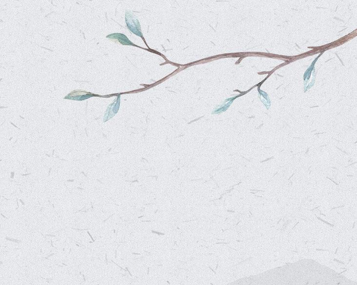 工笔画树枝PSD素材