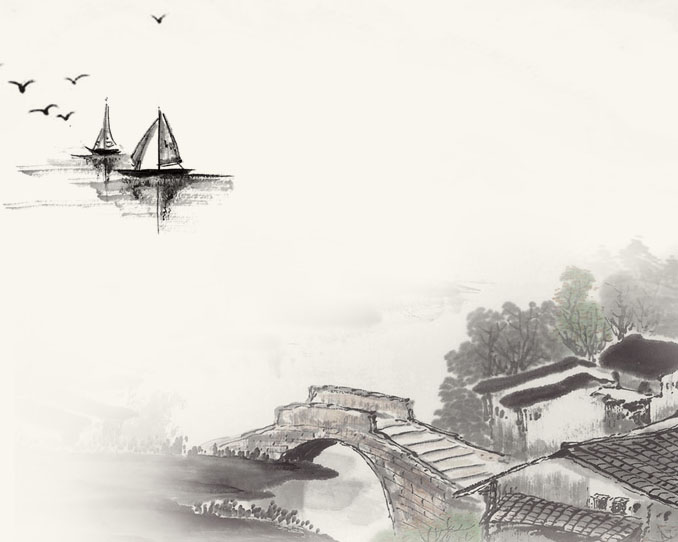 中国建筑绘画PSD素材